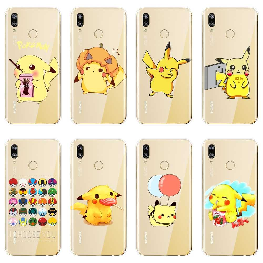 Pokemon Back Cover For Huawei P8 P9 P10 P20 Lite 2017 Soft Silicone Phone Case For Huawei P9 Lite Mini P10 Plus P20 Pro P Smart