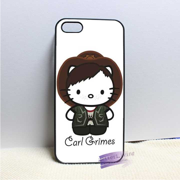Daryl Dixon Hello Kitty 7 fashion cell phone case cover for iphone iphone 4 4s 5 5s 5c SE 6 6s plus 7 plus #LI0222