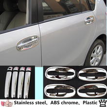 car ABS Chrome handle and bowl styling Car door Cover hoods for Toyota VERSO EZ 2010 2011 2012 2013 2014 2015 2016