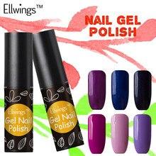 Ellwings Glitter Hybrid 29 Colors Nail Gel Polish Long Lasting Soak Off UV Nail Gel Varnish Semi Permanent Colorful Gel Lacquer