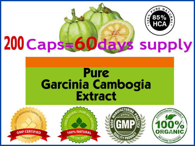 400mg x 200pcs (85% HCA) lose weight diet product effective fat burner Pure garcinia cambogia extract slimming products