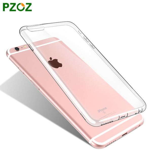 PZOZ For iphone 6 Case Silicone Cover Original For iphone 6s plus Transparent Color Slim Phone Protection Soft Shell i6 4.7&5.5