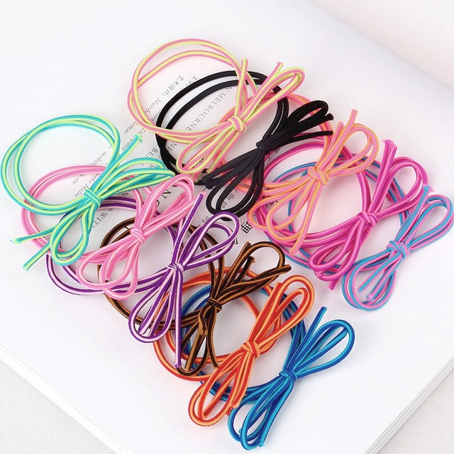 Girls Elastic Hair Bands Bow Hair Tie Band Ponytail Holder Ring Rope  Headwear Hair Accessories 20PCS c84df74fb1d