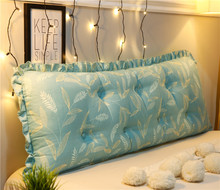 50x150cm luxury Printed cotton large big long wedge bed pillow standard back support rest cushion reading for