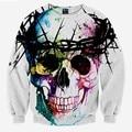 Harajuku Skull fashion men's 3d sweatshirt printed tree head ring skull hip hop hoodies long sleeve autumn tops