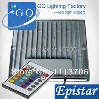 50 pzas/lote nuevo estilo 10 w 20 w 30 w 50 w RGB led Luz de inundación RGB cuadrado LED luminaria foco proyector de iluminación