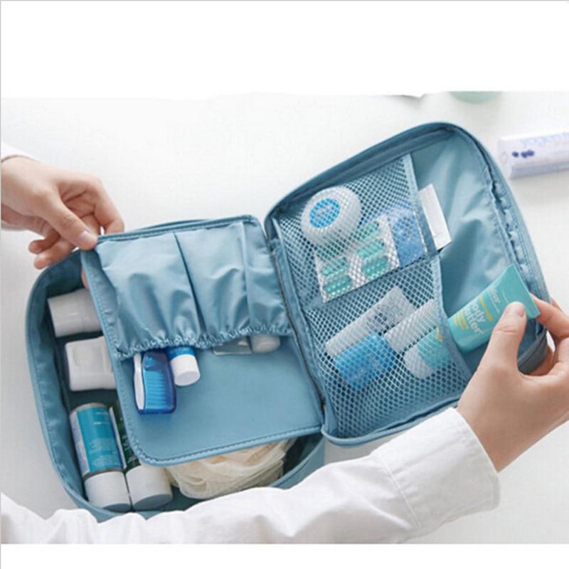 Zipper Makeup Bags Organizer Makeup Bag Waterproof Travel Cosmetic Bag Beauty Organizer Women Cable Toiletry Kit 35