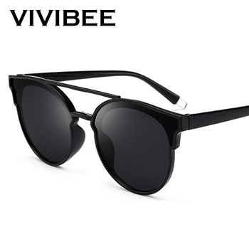 a3722a34ebee VIVIBEE Selection Vintage Oval Glasses Fashion Style UV400 Protect Oculos  De Sol Masculino For Women