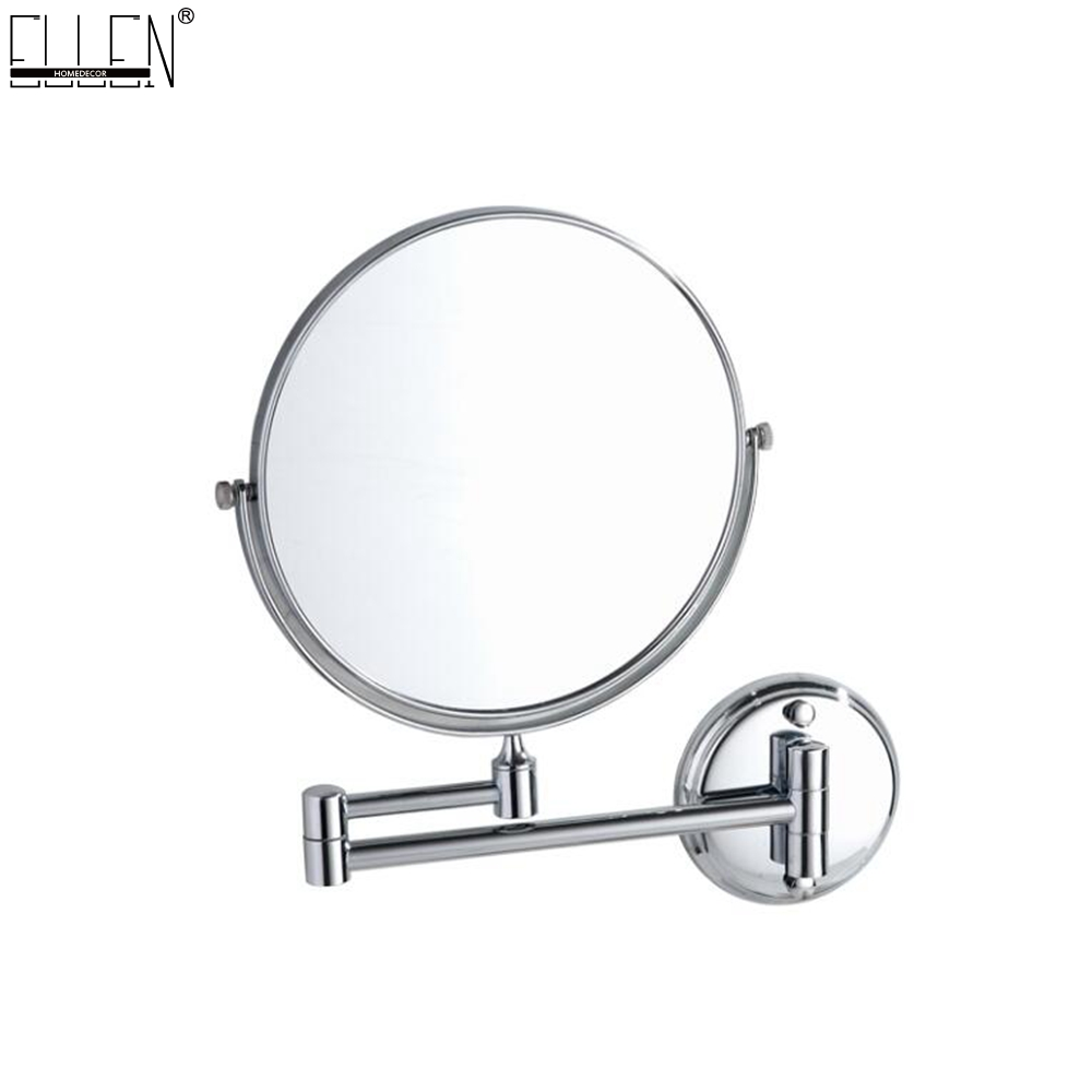 Bathroom Mirror 8 dual Makeup mirror 1:1 and 1:3 magnifier Copper Cosmetic Bathroom Double Faced Bath Mirror