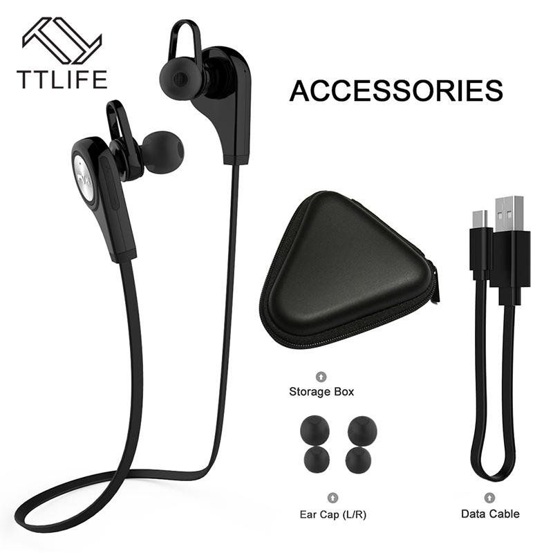 TTLIFE Bluetooth Earphone Q9 Wireless Sport Hi-Fi Stereo Music Headphones With HD Mic For Android Smart Phone Xiaomi Samsung remax rb s6 neck hanging type sport headphones bluetooth v4 1 wireless hd stereo earphone music headphone with mic multi connect