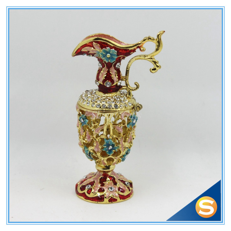 handmade enamel vase shape jewelry box making supplies