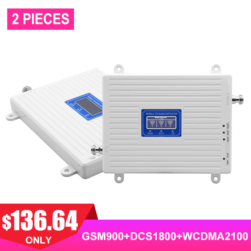 Triple Band Repeater GSM 900+DCS/LTE 1800+WCDMA 2100 Repetidor Celular Light Lcd 2g 3g 4g Signal Booster Cell Phone Amplifier #