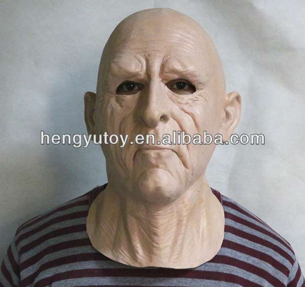realistic adults Halloween Deluxe Latex Full Head old man Mask Breaking Bad Toys