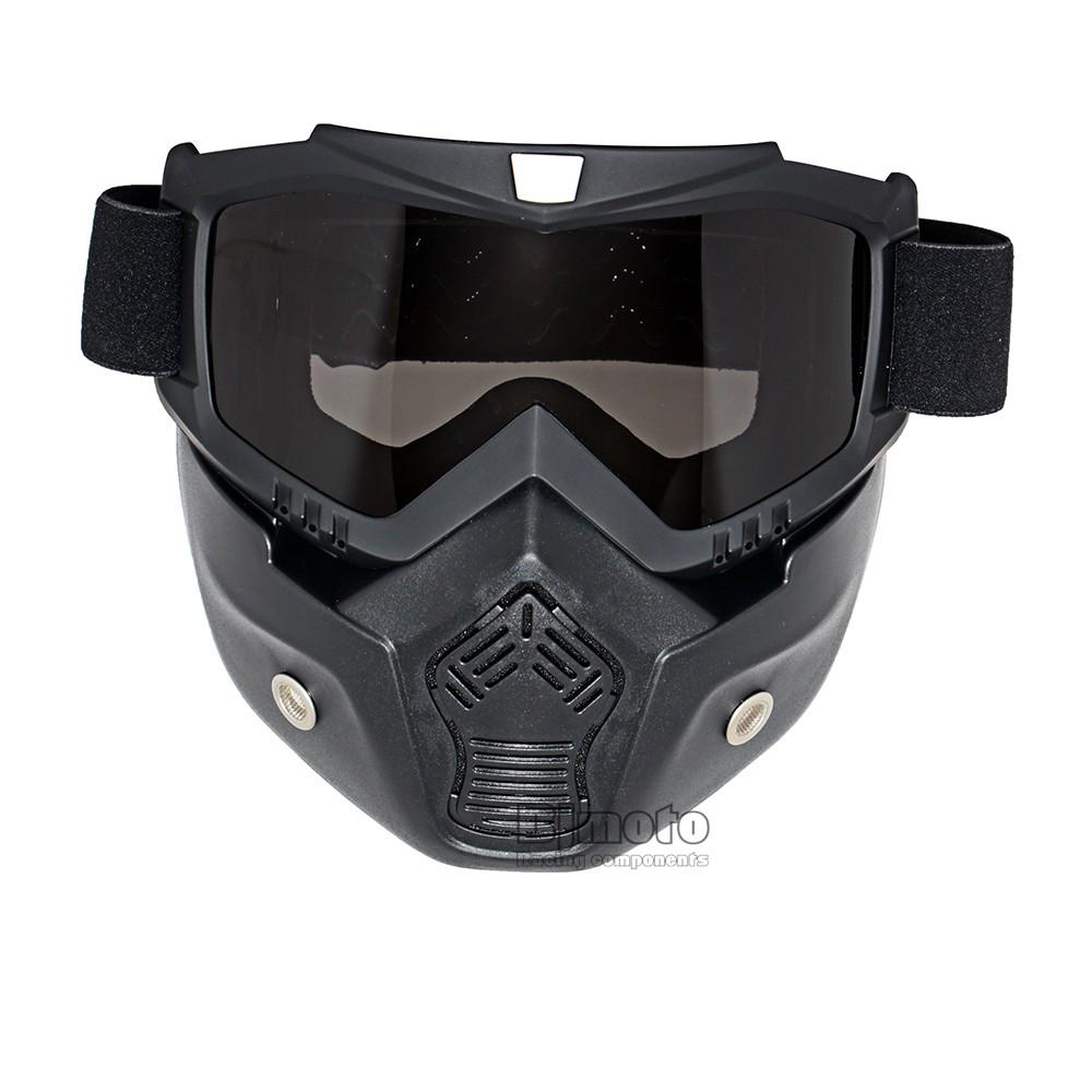 8138c32c5e Motocross Gafas Gafas cara máscara de polvo con desmontable de la ...