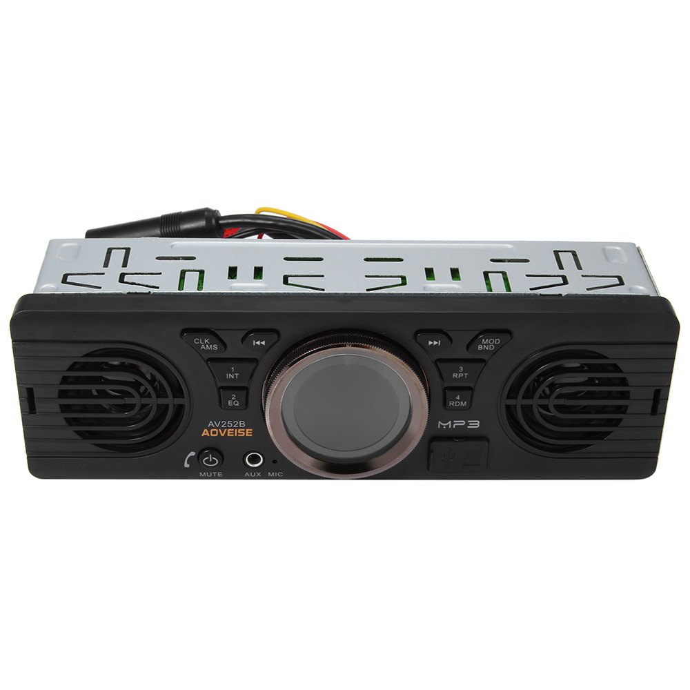 Vehicle Electronics In-dash MP3 Audio Player Car Stereo FM Radio AV252B 12V Bluetooth 2.1 + EDR with USB / TF Card Port