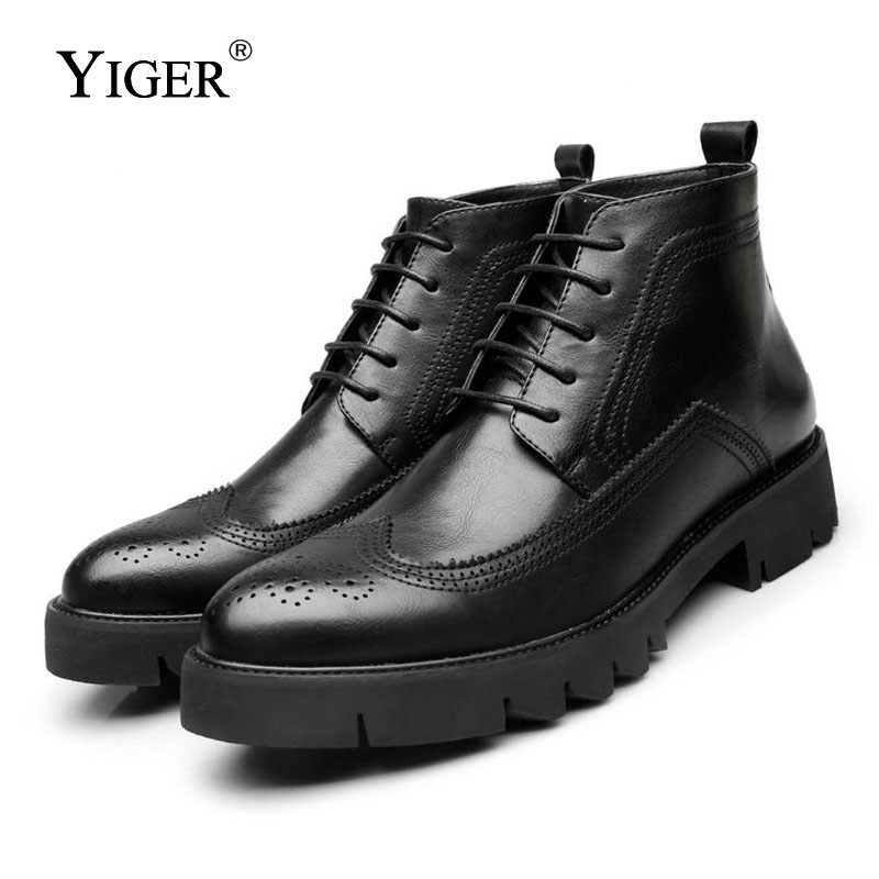DEKABR 2019 Men s Winter Snow Boots Genuine Leather Boots With Fur Shoes Quality Men Autumn