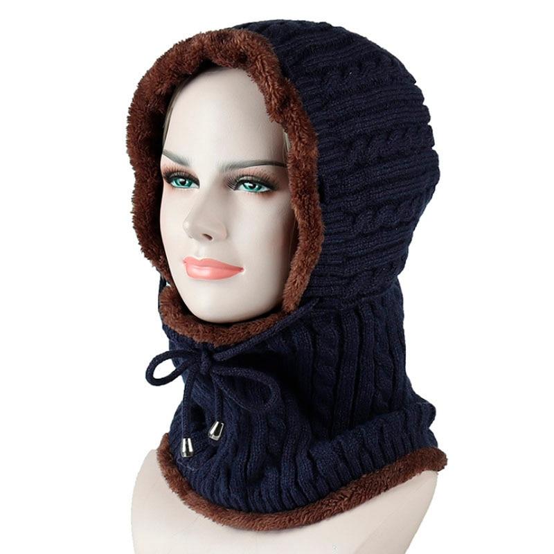 2018 Winter Knitted Hat Beanie Men Scarf Skullies Beanies Winter Hats For Women Men Caps Gorras Bonnet Mask Brand Hats