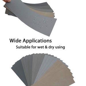 Image 5 - HLZS 20Pcs papel de lija seco húmedo, alto grano 1000/2000/3000/5000/7000 hojas de lija surtido para Pulido de metales de madera Automoti