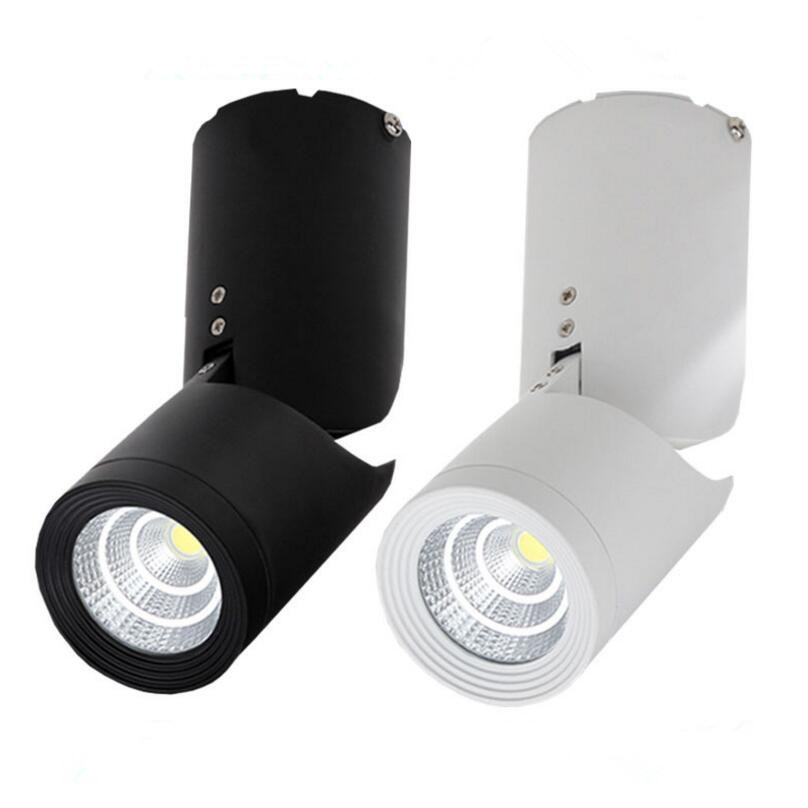 Free Shipping Dimmable 15W COB Led Downlights 360 degree Rotation Surface Mounted Ceiling Spot light Warm Cold White AC85-265V free shipping cob 15w dimmable ar111 gu10 g53 warm white natural white cold white ar111 cob led spot lamp for home light