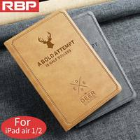 RBP Case For IPad Air 2 Cover Retro Canvas Series Leather Case For IPad 5 6
