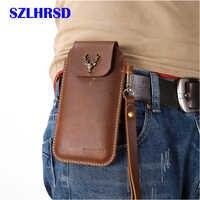 SZLHRSD pour conquête S9 ceinture Clip étui housse pour conquête S11 en cuir véritable taille sac Coque pour conquête S12 S8