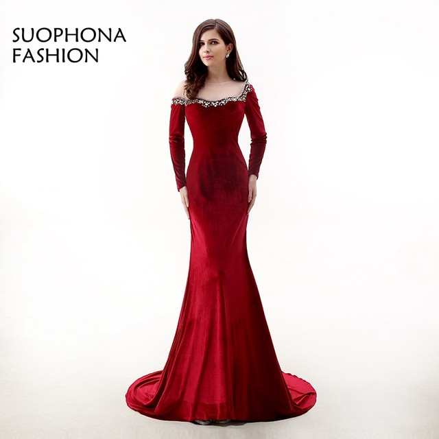 Red evening dress images