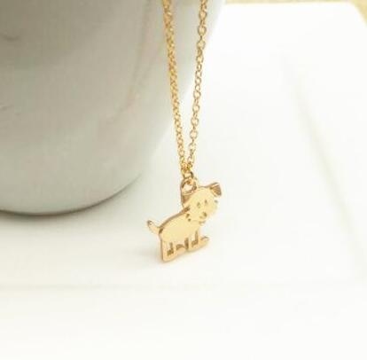Hign quatity Hot Sausage Dog Cute Modyle Gold Dogs Pendants & Necklaces for women fashion Jewelry girl party gifts Wholesale