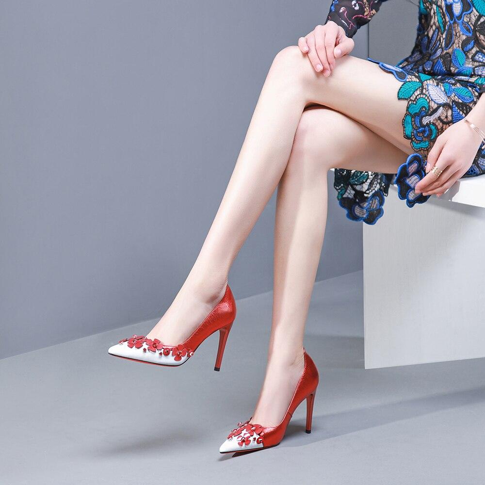Élégant red En Paryt Pour Mince Femmes Stiletto Chaussures Sexy Leepo Talons Escarpins Bout Cuir Dames Hauts Black Femme Véritable Pointu blue gwvqWHcxpW