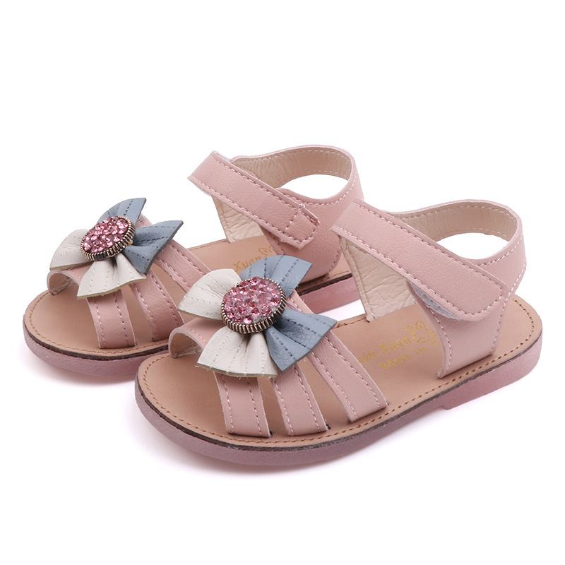 Smart Poro Children Baby Sandals Summer Girl Baby Soft School Shoes Kids Flowers Sandals Toddler Princess Shoes Beach Sandals