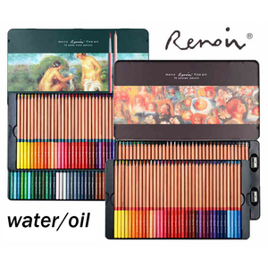 Image 4 - Renoir 48/72/100/120 watercolor and oil color pencil for hand painting and coloring specialist for artists Art supply color pen