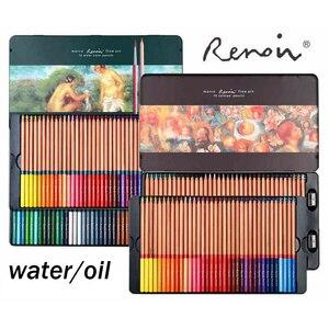 Image 4 - Renoir 48/72/100/120 수채화 물감 및 오일 컬러 연필 예술가 예술 공급 컬러 펜 핸드 페인팅 및 색칠 전문가