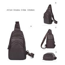 J.M.D High Quality Real Leather Large Capacity Cross Body Bag Vintage Chest Bag Men's Shoulder Bag 4013Q