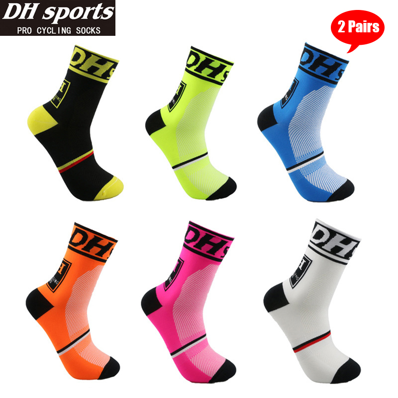 DHSports Cycling Socks Professional Sport Knee-High Socks Breathable Bicycle Socks Men Women Outdoor Racing Running Soccer Socks