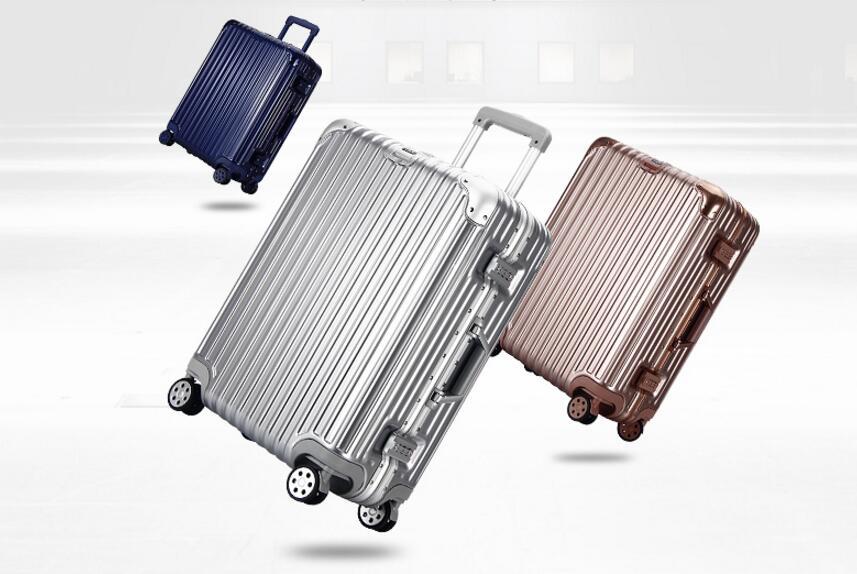 цена на Suitcase, male aluminum frame, universal wheel, pull rod box, 20 inch boarding box, password leather case, travel box 24 inches.