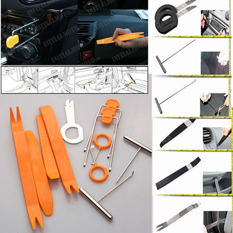 BBQ@FUKA 12x Auto Nylon Panel Dash Audio Stereo GPS Molding Removal Install Tools Kit Set Fit for VW Toyota Honda BMW Audi Benz