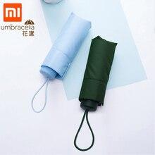 Xiaomi Mijia Regenschirm Super Kurze Fünf Falten Sonnenschutz Regenschirm Protable Ultraleicht Regnerisch Schirme wasserdichte Winddicht