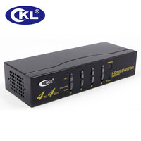 CKL 444H 4 In 4 Out HDMI Switch Splitter IR Remote RS232 Support 3D 1080P For