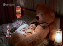 the biggest bear toy plushed toy cute big eyes bow stuffed bear toy teddy bear birthday gift light brown 200cm