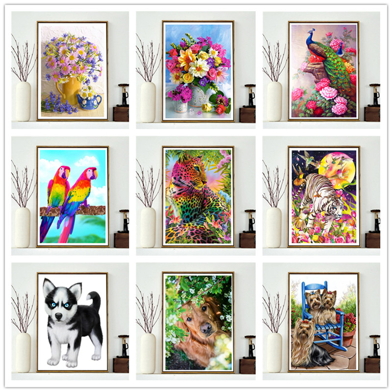 Diamond painting / animal good full round diamond sticker 5D DIY embroidery cross stitch home decoration
