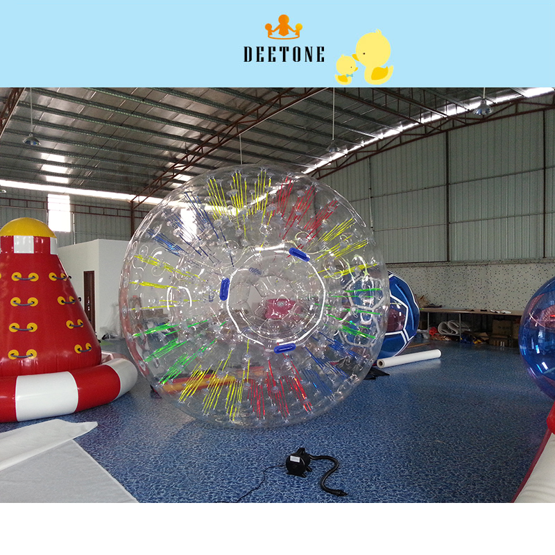 DEETONE 2.6m PVC Inflatable Bubble Soccer Football Ball For Children Zorb Ball Inflatable Human Hamster Ball Bumper Ball For Kid