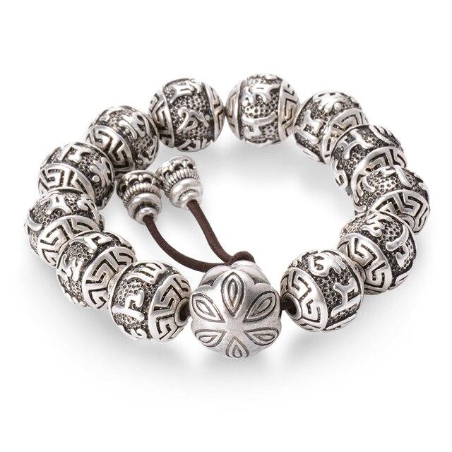Купить винтаж тибетский буддизм латунь покрытая серебром очарование