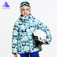 цена Boys Girls Skiing Snowboard Jackets Child Waterproof Outdoor Snow Coats Kids Warm Winter Children Ski Jacket Winter Clothing