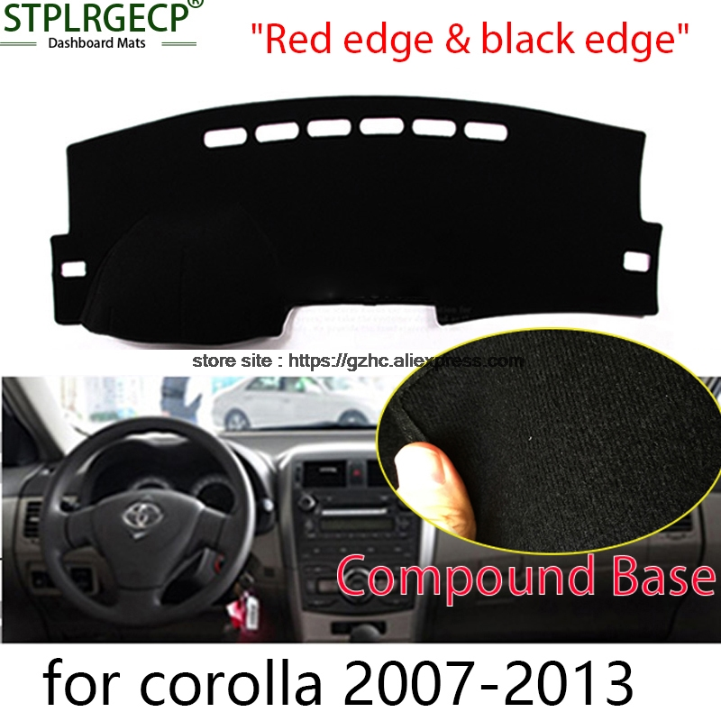 StplrgeCP For toyota corolla doulbe layer Car Dashboard Cover Avoid Light Pad Instrument Platform Dash Board Cover Sticker
