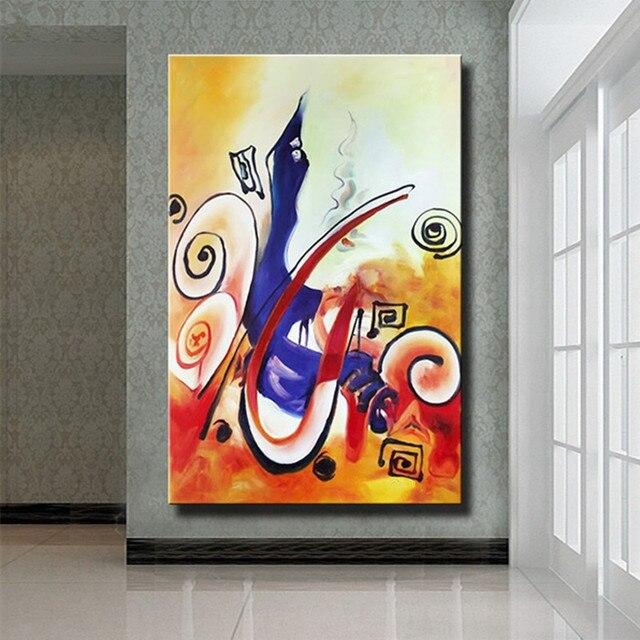 Modern Handmade Acrylic Colorful Geometric Paintings Home Decor Wall ...