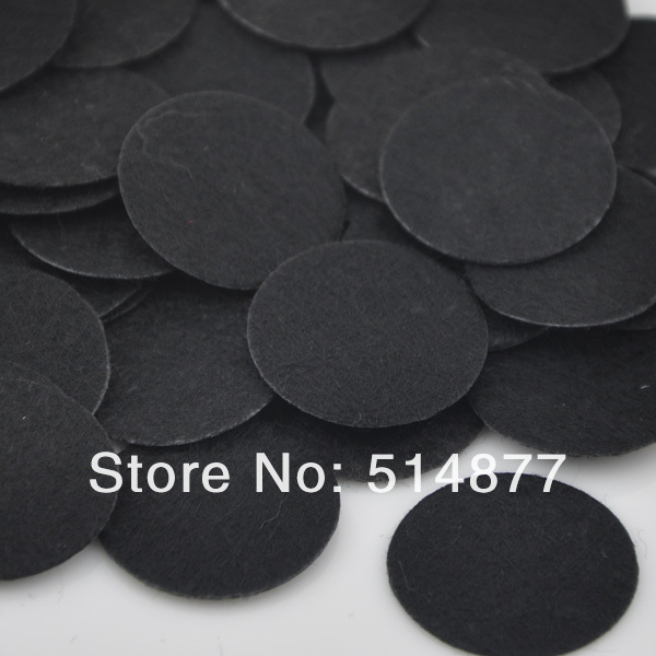New 40mm 100pcs Felt Black Color Circle Appliques Free Shipping F07 ...