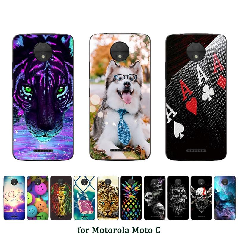5 pollici Cassa Del Telefono Per Motorola MotoC Dangou Modello Morbido TPU Trasparente Della Copertura Posteriore Per Motorola XT1750 Sacchetto di Protezione Completa coque