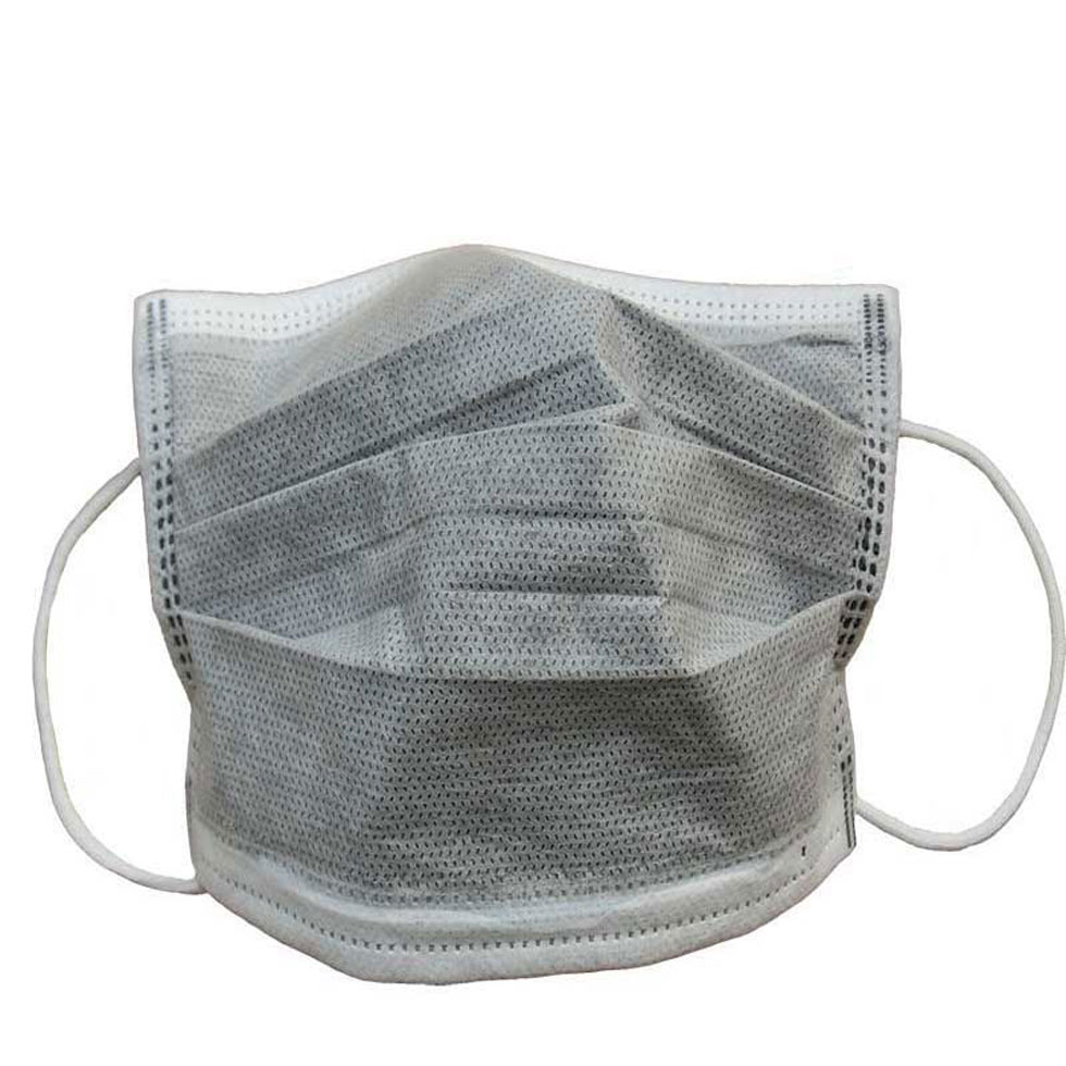 50 Pcs Activated Carbon Disposable Masks Four Layer Dust Anti-Virus Prevent Fog Haze PM2.5 Hang An Ear Type Of Household Indust