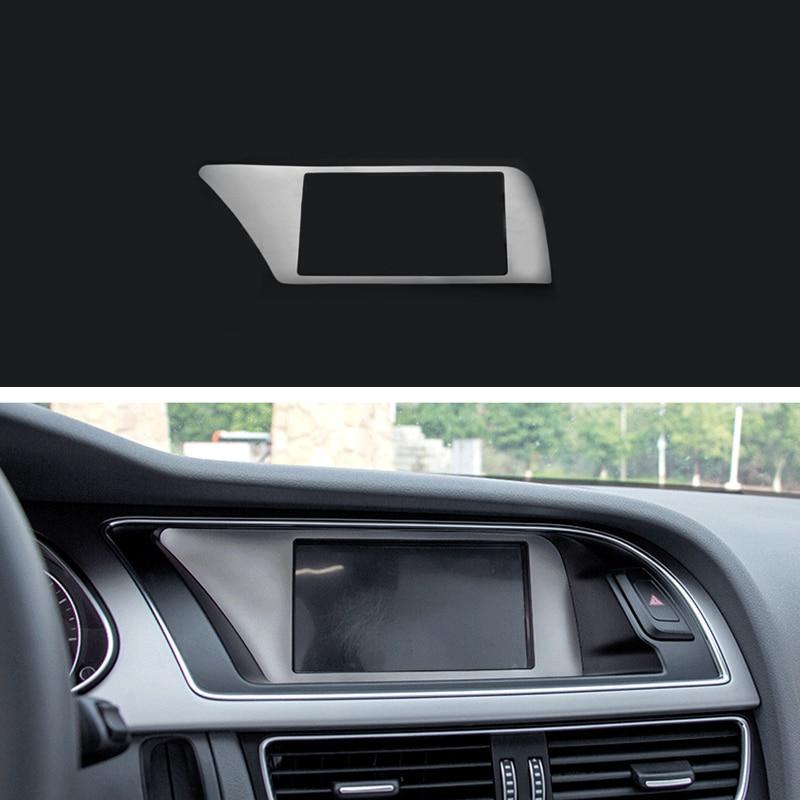 Carbon Fiber Interior Dashboard Panel Cover Moulding Trim For Audi A4 B8 08-16