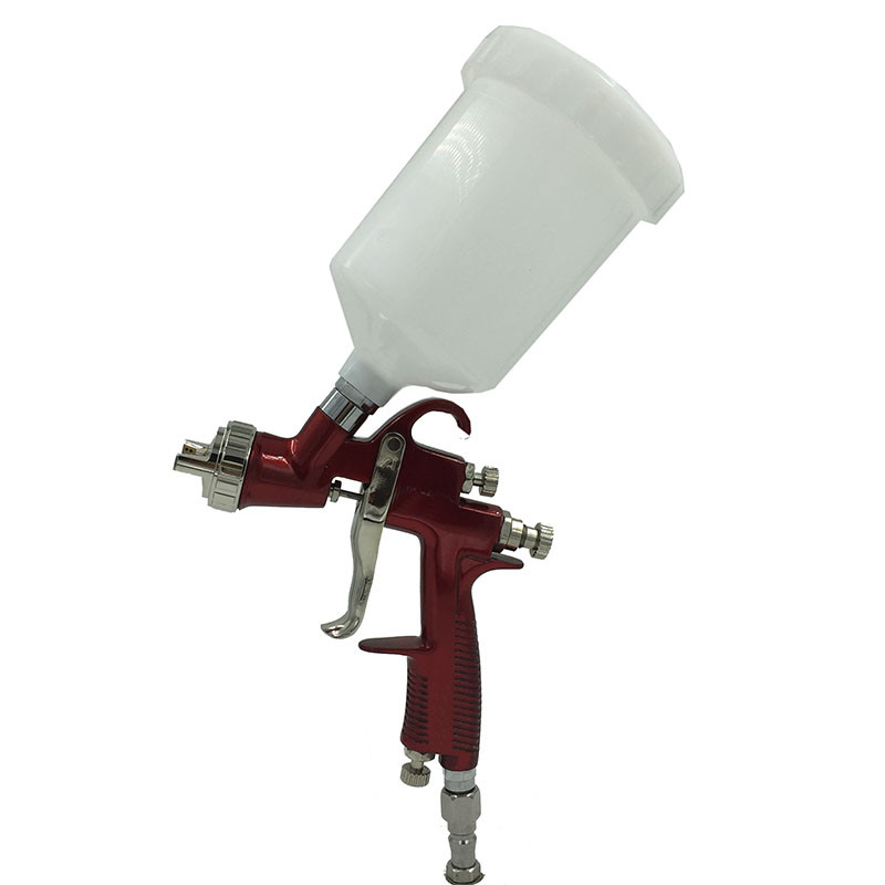 цена на SAT0090 HVLP Airbrush Spray Gun Gravity Feed Pneumatic Car Painting Gun Power Tools Air Nozzle Spray Gun