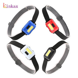 LED Headlamp Fishing Lantern Torch Mini Waterproof Outdoor Camping COB 3xaaa by for 4-Colors